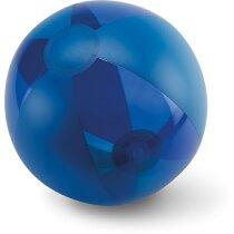 Balón de playa combinado en varios colores personalizado azul