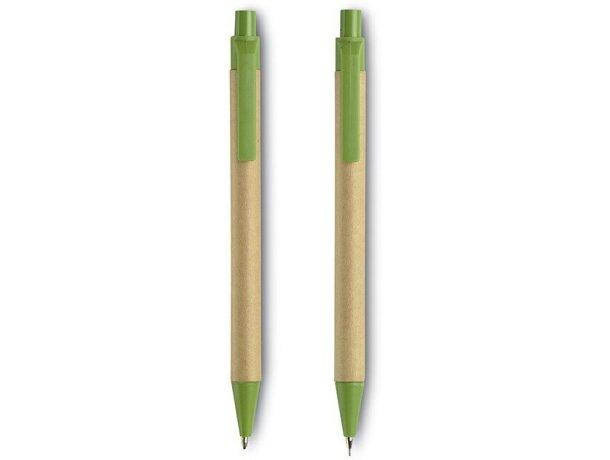 Set de lápiz y bolígrafo en cartón