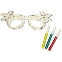 Gafas de madera para colorear