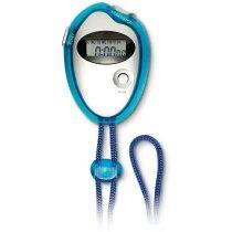 Cronómetro digital de colores azul transparente