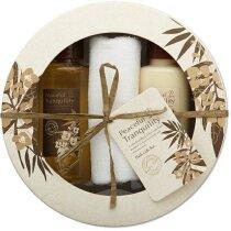 Set de baño de regalo personalizado beige