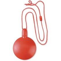 Soplador redondo de burbujas de colores personalizado rojo