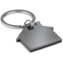 Llavero Ecasa de acero inox. y plástico personalizado negro