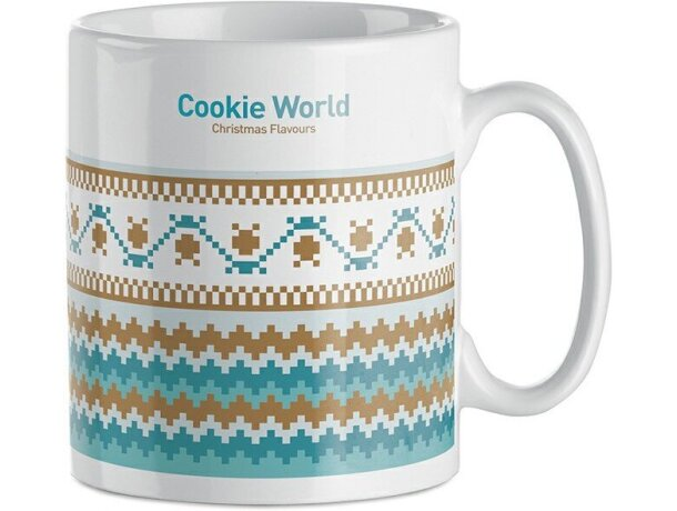 Taza de cerámica lisa para sublimacón a todo color con logo