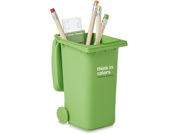 Lapicero contenedor verde barato