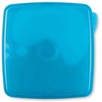 Fiambrera cuadrada frigorífica azul claro