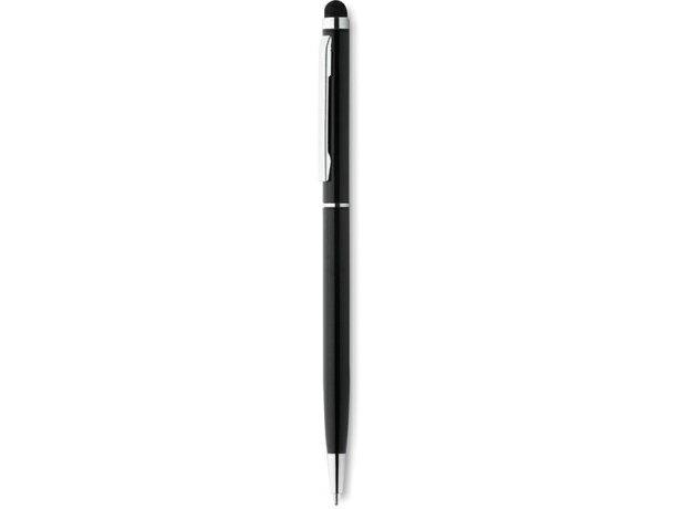 Bolígrafo con puntero y clip cuadrado con logo