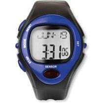 Reloj deportivo con pantalla digital personalizado azul