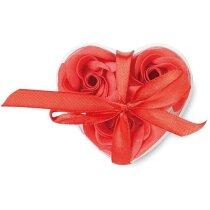 Estuche de jabón corazón personalizado rojo