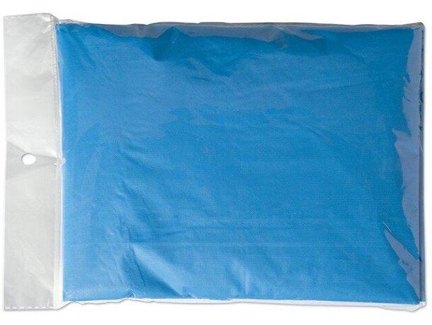 Poncho impermeable para niños personalizado azul