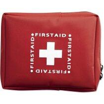 Botiquín de  primeros auxilios cierre de cremallera personalizado rojo