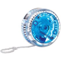 Yoyó luminoso personalizado azul