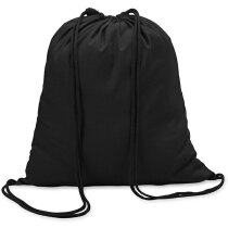 Mochila saco algodón 100gr merchandising negra