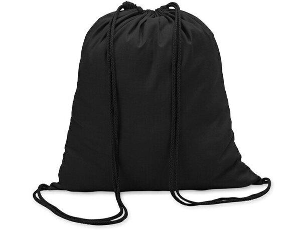 Mochila saco algodon 100gr personalizada negra