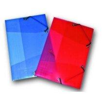 Carpetas de plástico transparente con cierre de gomas personalizada