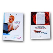 Carpeta A4 portafolios con clip metálico personalizada