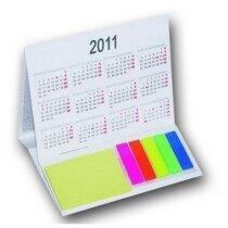 Calendario con notas adhesivas personalizada