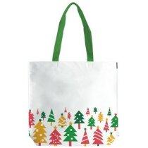 Bolsa laminada con dibujos de árbol de Navidad personalizada