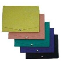 Porta documentos de cartón con cierre de broche en colores personalizado