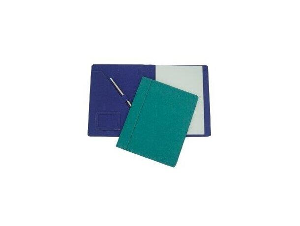 Carpeta de cartón con bolsillos tarjetero y bloc personalizada