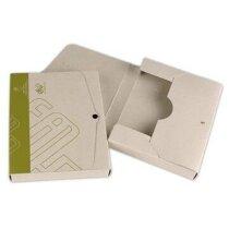 Porta documentos de cartón con cierre de broche sin asa personalizado