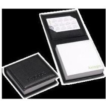 Porta notas con bloc y porta tarjetas