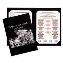 Carta de menus en cartulina de fabricación especial personalizada