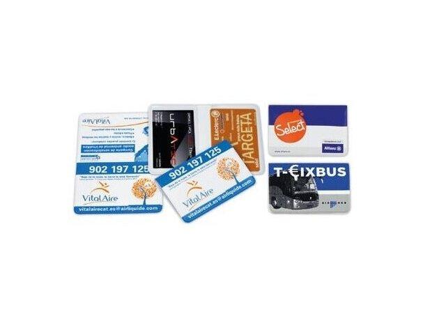 Funda para tarjetas pequeñas de vinilo doble personalizada