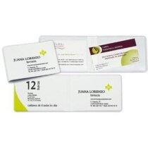 Funda para tarjetas de 2 bolsillos personalizada