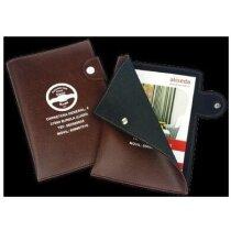 Porta documentos con bolsillo abierto y lengüeta personalizado