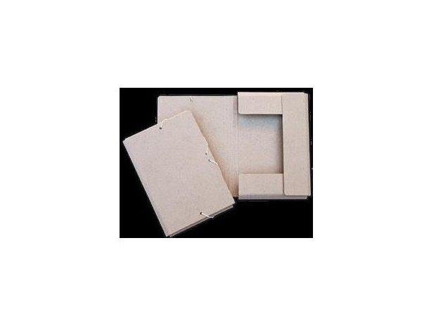 Carpeta pequeña de cartón con solapas y cierre de gomas personalizada