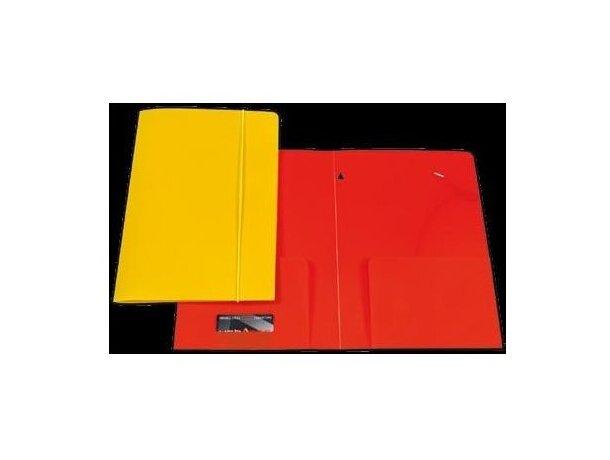 Carpeta de plástico de colores con cierre de gomas