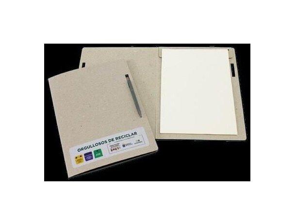 Carpeta de cartón con bloc de 20 hojas personalizada