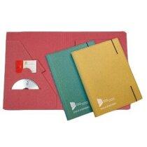Carpeta de cartón de colores con porta CD personalizada