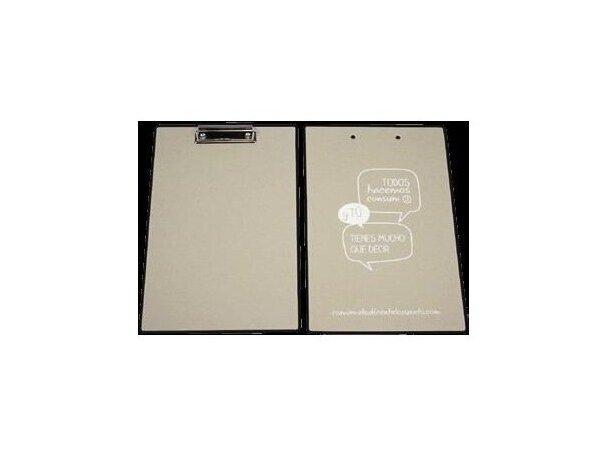 Tablilla de notas de cartón con pinza personalizada