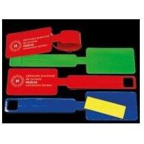 Identificador de maleta con etiqueta de cartulina personalizado