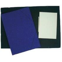 Carpeta de cartón con cierre de gomas personalizada
