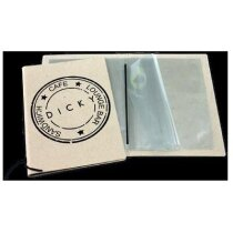 Carta de cartón reciclado con bolsas flotantes para folios personalizada