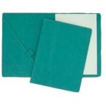 Carpeta de cartón con bolsillos porta lápiz y bloc