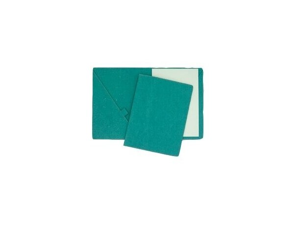 Carpeta de cartón con bolsillos porta lápiz y bloc personalizada
