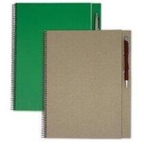 Libreta tamaño A4 con 100 hojas recicladas personalizada