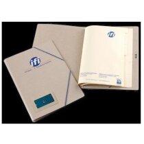 Carpeta de cartón con separadores personalizada