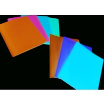 Carpeta flexible con 10 fundas en color