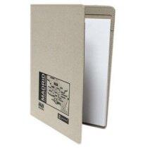 Carpeta de cartón reciclado con bloc de 20 hojas encoladas personalizada