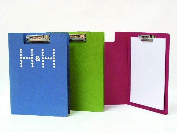 Carpeta con miniclip en cartón de colores
