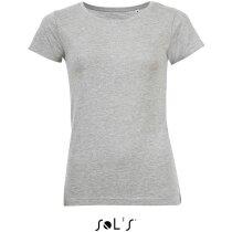 Camiseta de mujer tejido mxto Sols gris