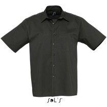 Camisa de hombre manga corta Sols negra