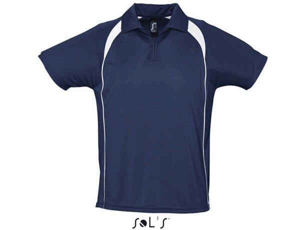 Polo tejido técnico manga corta Sols 135 gr Sols personalizado azul f1c702af39256