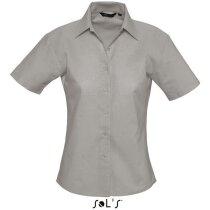 Camisa de mujer entallada estilo Oxford Sols gris