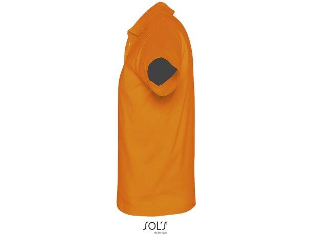 Polo unisex de manga corta prescott de sols 170 gr con logo